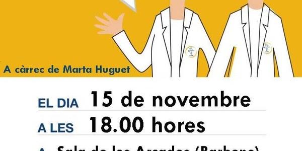 Xerrada: L'insomni, a càrrec de la farmacèutica Marta Huguet