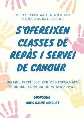 CLASSES DE REPÀS I SERVEI DE CANGUR