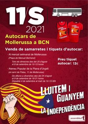 Manifestació 11S a BCN 2021