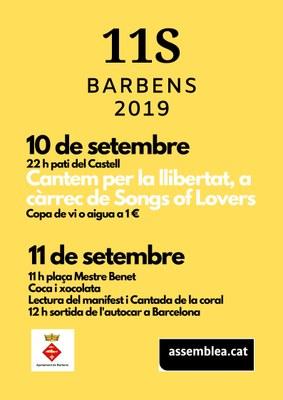 Actes de la Diada 2019 a Barbens