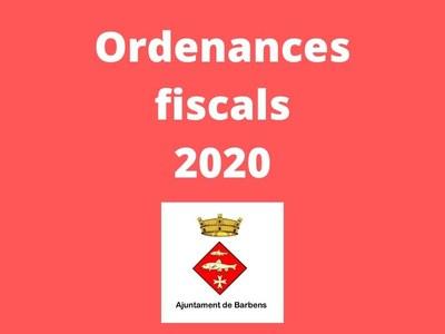 Ordenances fiscals per al 2020